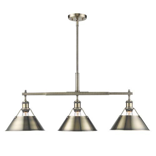 antique brass linear pendant lighting bellacor