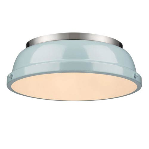 Duncan Seafoam and Pewter Two-Light Flush Mount