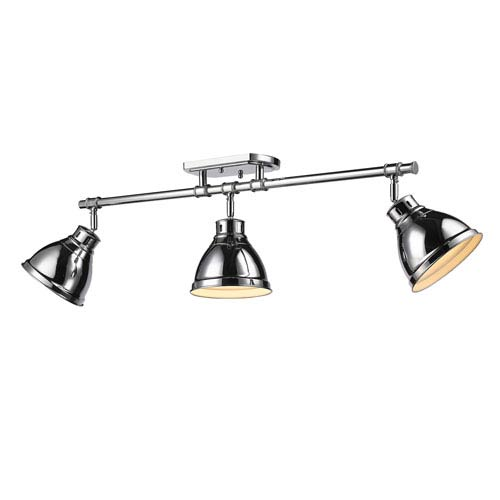 Duncan Chrome Three-Light Track Light