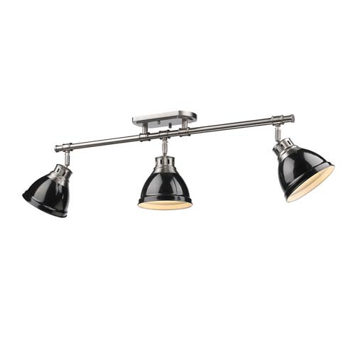 Duncan Black and Pewter Three-Light Track Light