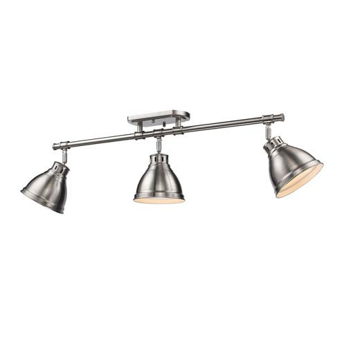 Duncan Pewter Three-Light Track Light