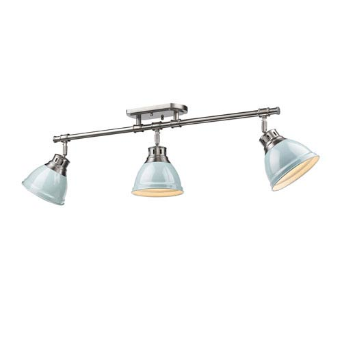 Duncan Seafoam and Pewter Three-Light Track Light