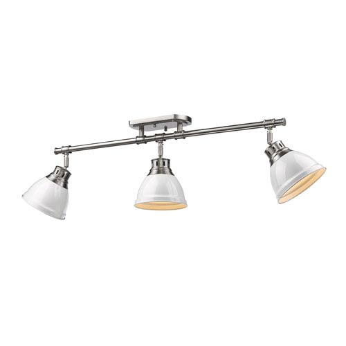 Duncan White and Pewter Three-Light Track Light