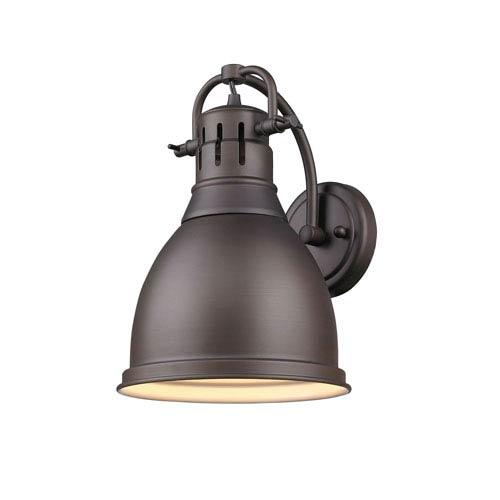 Duncan Rubbed Bronze One-Light Eight-Inch Vanity Fixture