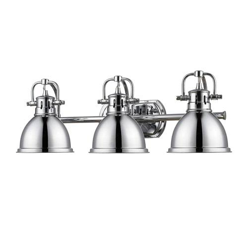 Charmant Duncan Chrome Three Light Vanity Fixture