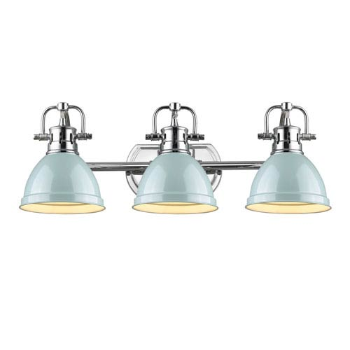 Golden Lighting Duncan Chrome Three Light Vanity Fixture