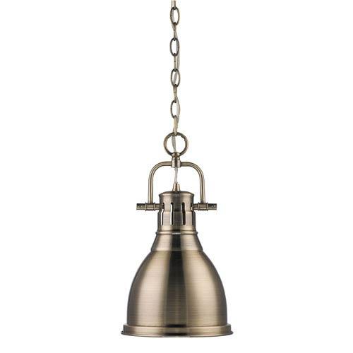 Duncan Aged Brass One Light Mini Pendant
