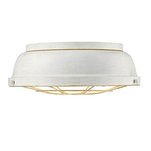 Bartlett French White Two-Light Flush Mount with French White Shades