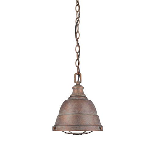 Bartlett Copper Patina One-Light Cage Mini Pendant