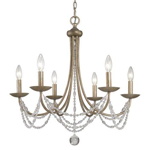 Mirella Six-Light Bronze Chandelier