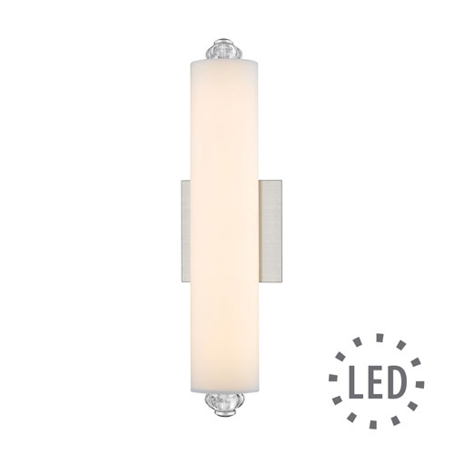 Golden Lighting Vera Pewter 16-Inch LED Bath Bar with Opal Glass