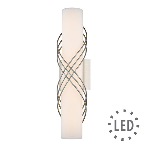 Juliette Pewter -Inch 18-Inch LED Bath Bar with Opal Glass