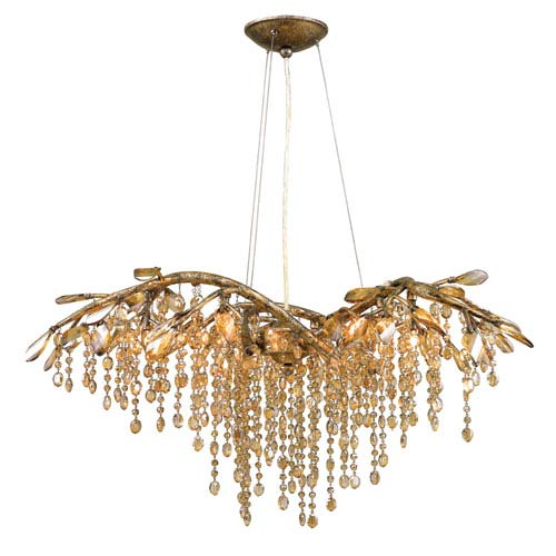 Autumn Twilight Mystic Gold Six-Light Chandelier