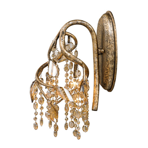 Autumn Twilight Mystic Gold Three-Light Sconce