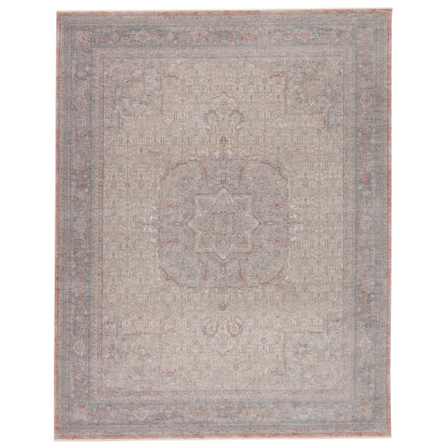 Winsome Epsilon Medallion Red and Blue Area Rug