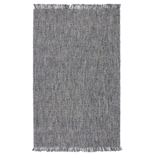 Breathe Easy Caraway Solid Blue and Gray Area Rug