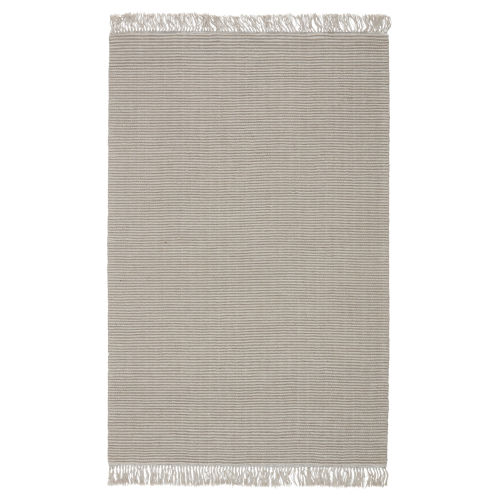 Cloud Break Skye Solid Light Gray and Taupe Area Rug