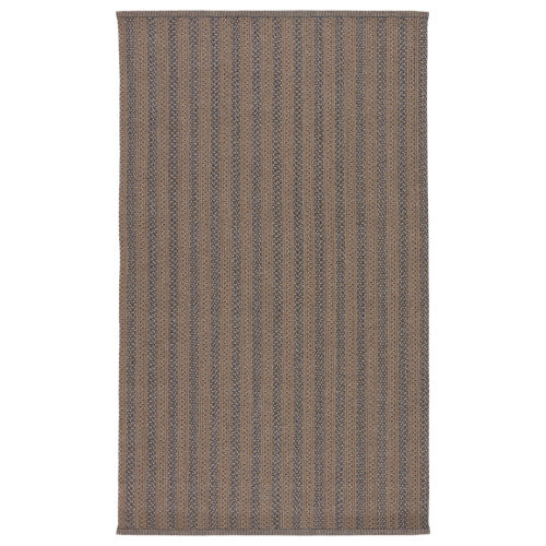 Brontide Madaket Striped Taupe and Gray Indoor/Outdoor 7 Ft. 6 In. x 9 Ft. 6 In. Area Rug