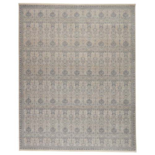 Winsome Beaumont Trellis Blue and Cream 3 Ft. x 8 Ft. Runner Rug