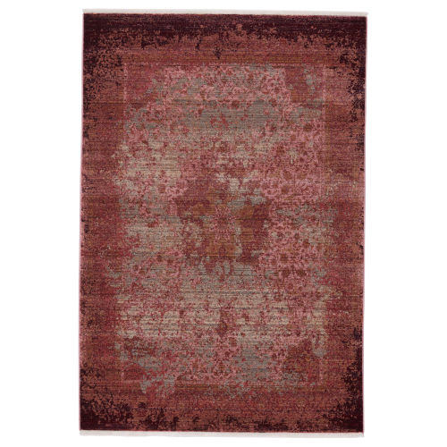 Zefira Enyo Medallion Red and Pink 8 Ft. x 10 Ft. 6 In. Area Rug
