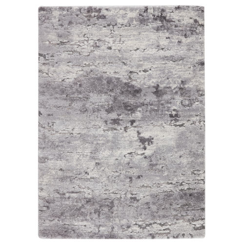 Ferris Coen Abstract Gray and Ivory 9 Ft. 6 In. x 13 Ft. Area Rug