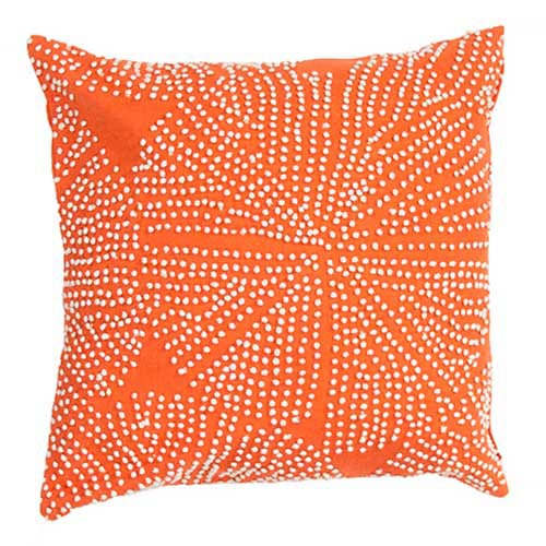 Luli Sanchezs Orange 18-Inch Decorative Pillow
