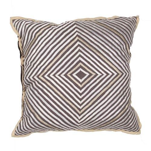 Jaipur Luli Sanchezs Gray 18-Inch Decorative Pillow