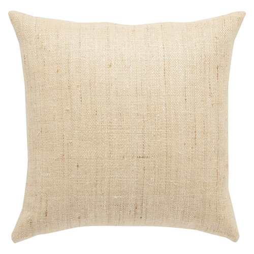 Mandarina Almond Buff 20 In. Pillow with Down Fill