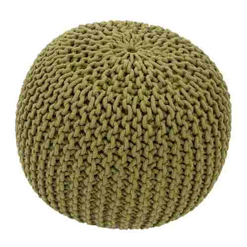 Spectrum Turtle Green Cylindrical Pouf