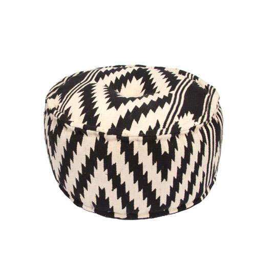 Traditions Made Modern Geo Peat Cylindrical Pouf