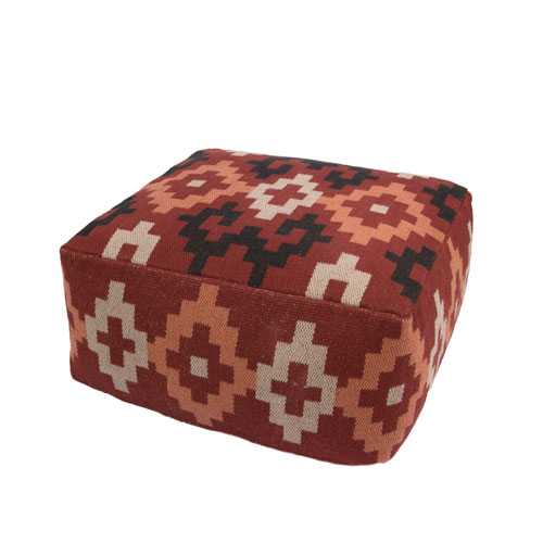 Traditions Made Modern Ketchup Cuboid Pouf