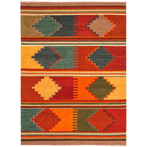 Jaipur Anatolia Red and Multi-Colored Rectangular: 5 Ft. x 8 Ft. Rug