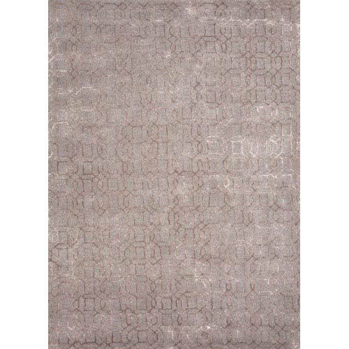 Jaipur Baroque Gray and Tan Rectangular: 5 Ft. x 8 Ft. Rug