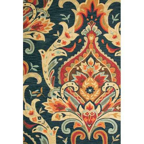 Jaipur Brio Blue and Red Rectangular: 5 Ft. x 7 Ft. 6 In. Rug