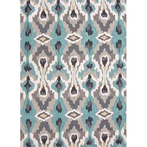 Jaipur Brio Blue and Ivory Rectangular: 5 Ft. x 7 Ft. 6 In. Rug