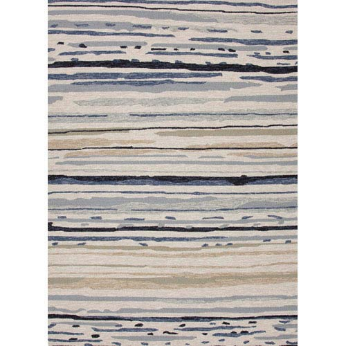 Colours Ivory and Blue Rectangular: 5 Ft. x 7 Ft. 6 In. Rug