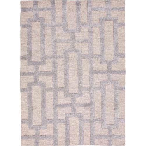 Jaipur City Gray and Light Ivory Rectangular: 5 Ft. x 8 Ft. Rug