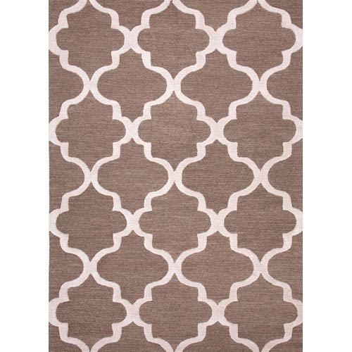 Jaipur City Brown and Ivory Rectangular: 5 Ft. x 8 Ft. Rug