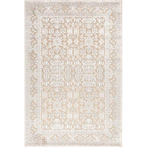 Fables Taupe and Ivory Rectangular: 5 Ft. x 7 Ft. 6 In. Rug