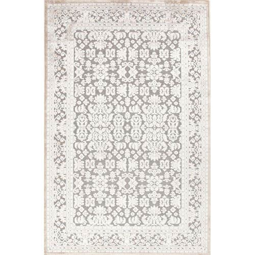 Jaipur Fables Gray and Ivory Rectangular: 5 Ft. x 7 Ft. 6 In. Rug