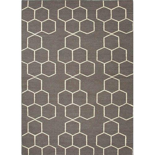 Jaipur Maroc Gray and Ivory Rectangular: 5 Ft. x 8 Ft. Rug