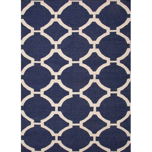 Jaipur Maroc Ivory and Light Blue Rectangular: 5 Ft. x 8 Ft. Rug