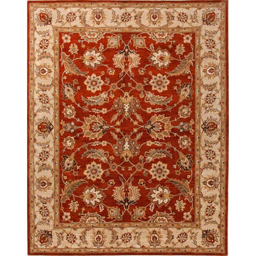 Jaipur Mythos Red and Taupe Rectangular: 5 Ft. x 8 Ft. Rug