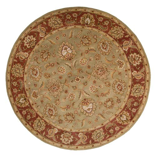 Jaipur Mythos Green and Red Round: 10 Ft. x 10 Ft. Rug