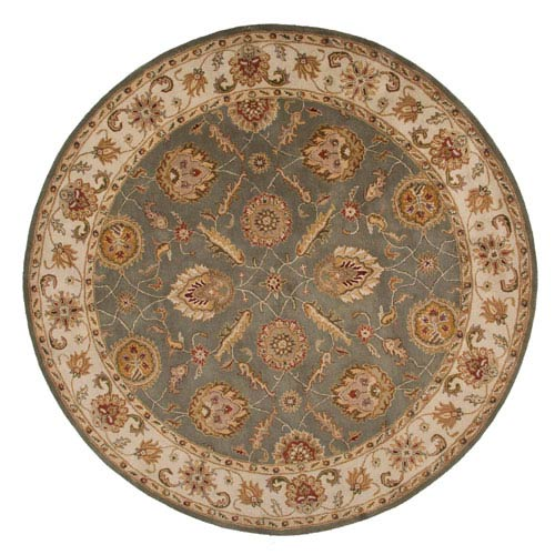 Jaipur Mythos Green and Ivory Round: 10 Ft. x 10 Ft. Rug