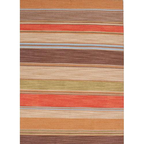 Jaipur Pura Vida Red and Brown Rectangular: 5 Ft. x 8 Ft. Rug