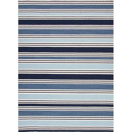 Jaipur Pura Vida Ivory and Blue Rectangular: 5 Ft. x 8 Ft. Rug