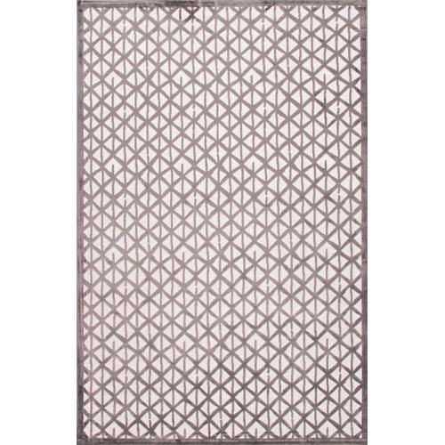 Jaipur Fables Ivoryish Gray Rectangular: 5 Ft. x 7 Ft. 6 In. Rug