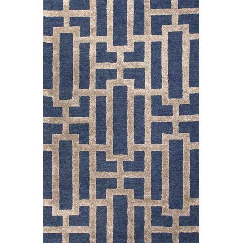 Jaipur City Blue and Tan Rectangular: 5 Ft. x 8 Ft. Rug