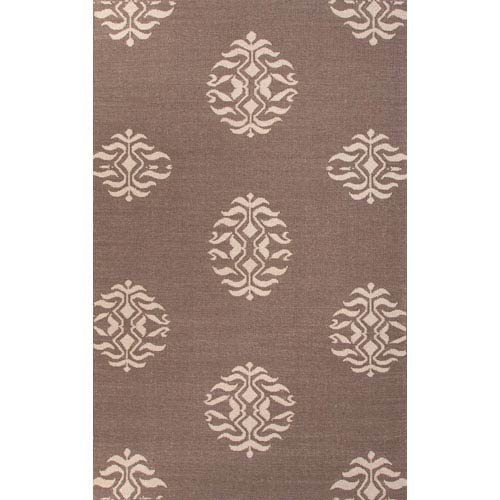 Jaipur Maroc Light Ivory and Dark Gray Rectangular: 5 Ft. x 8 Ft. Rug